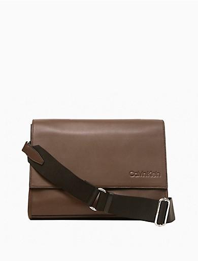 Image of Refined Leather Messenger Bag
