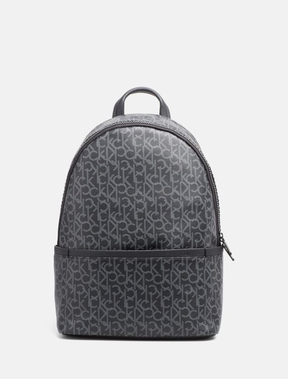 Embossed Logo Top Zip Backpack - Black Calvin Klein