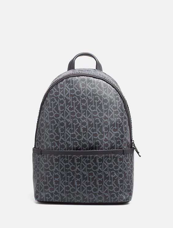 Embossed Logo Top Zip Backpack - Black Calvin Klein YVTKniH9