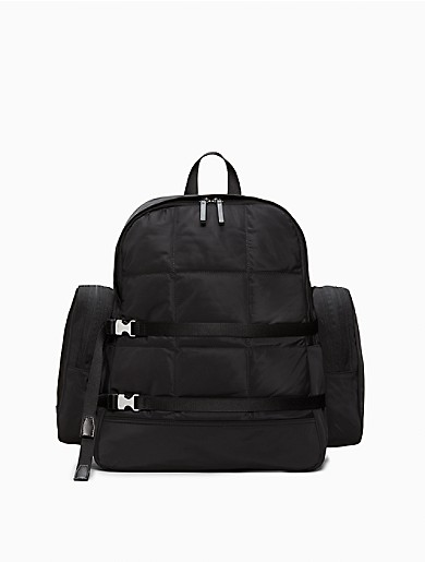 Image of Rectangle Quilted Large Backpack