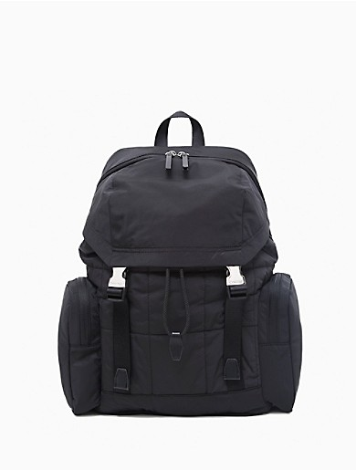 Image of Rectangle Quilted Large Flap Backpack