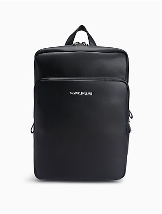 smooth essentials logo square backpack