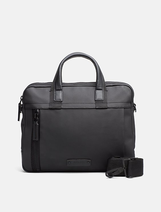 Calvin Klein Coated Canvas Slim Laptop Bag From China Cheap Online Pre Order Cheap Sale Real SLVAehI