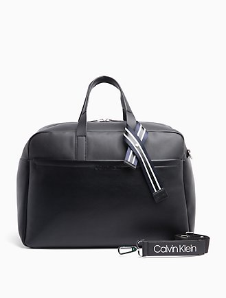 Logo Ribbon Stripe Weekender Bag 87d80deddd7f2