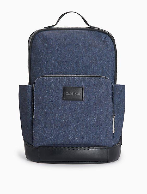 Coated Denim Everyday Backpack by Calvin Klein