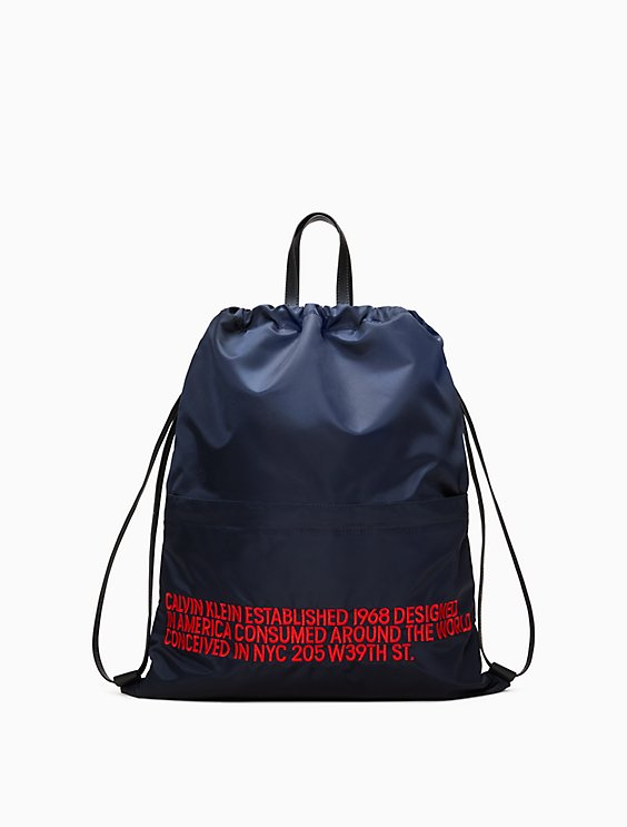 embroidered drawstring backpack  d5a6f6f8fa2e