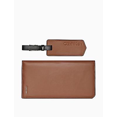 Box Calf Long Wallet + Luggage Tag