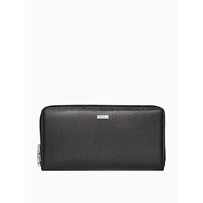 Caviar Leather Travel Zip Wallet