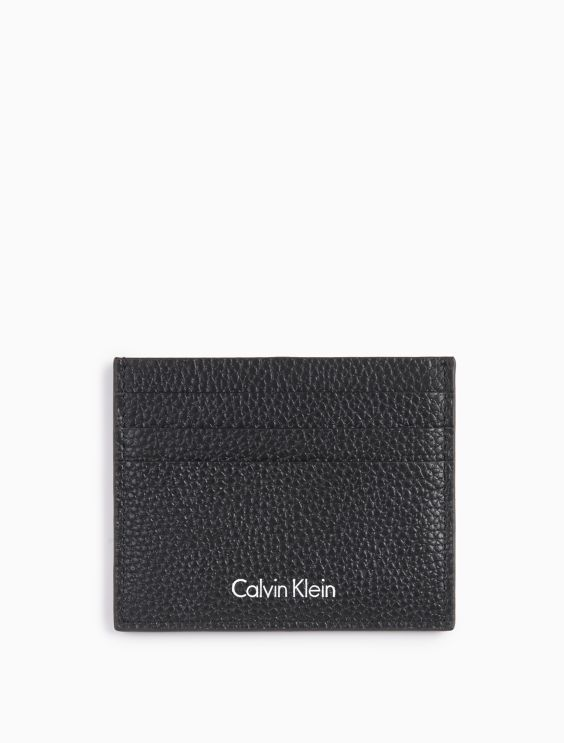 American Flag Zip Card Case in Calf Leather Calvin Klein