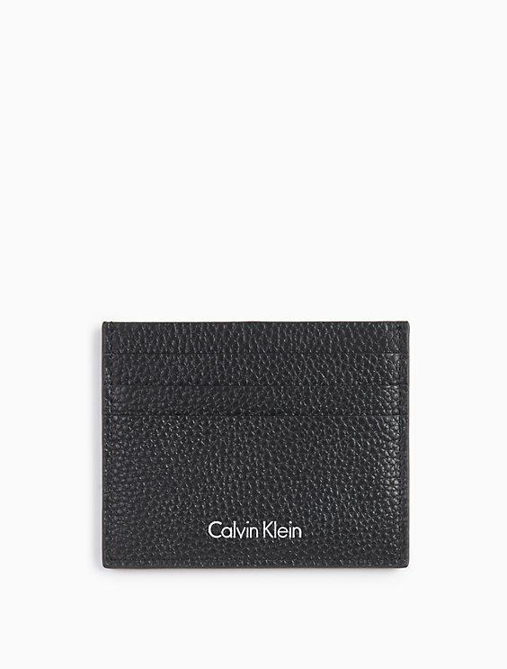 American Flag Zip Card Case in Calf Leather Calvin Klein SxH0p