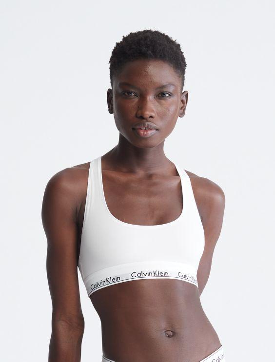 Calvin Klein Underwear Woman Printed Stretch-cotton Sports Bra Black Size S Calvin Klein