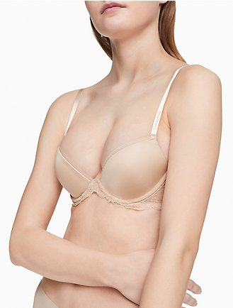 Order For Sale Cheap With Mastercard Calvin Klein Woman Metallic Jersey Balconette Bra Gray Size 32 D Calvin Klein Free Shipping Supply Buy Newest Cheap Sale New JpGVw