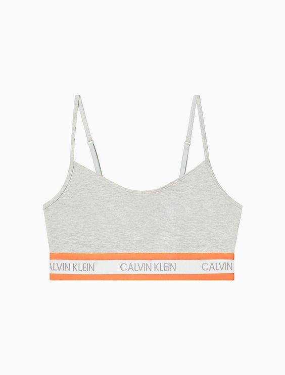 Neon Cotton Stretch Unlined Bralette by Calvin Klein