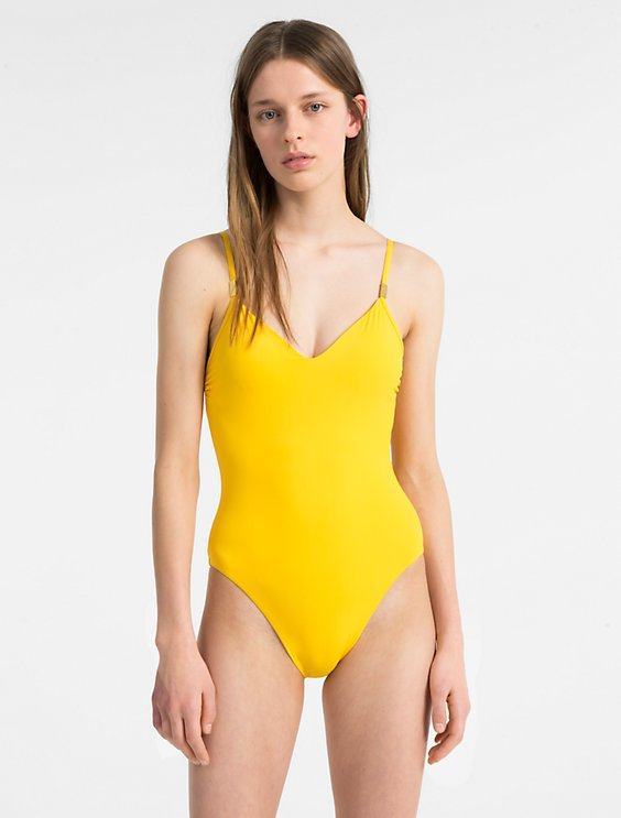 4fa4b776bad91 Final Sale v-neck one-piece swimsuit