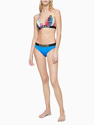 Image of Intense Power Printed Triangle Bikini Top