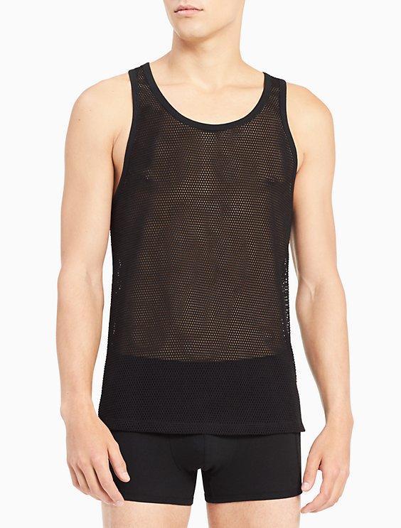 6774b836 body mesh tank top | Calvin Klein