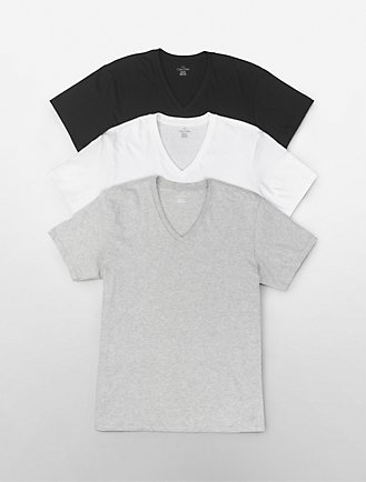 03ee93485 cotton classic fit 3-pack short sleeve v-neck t-shirt