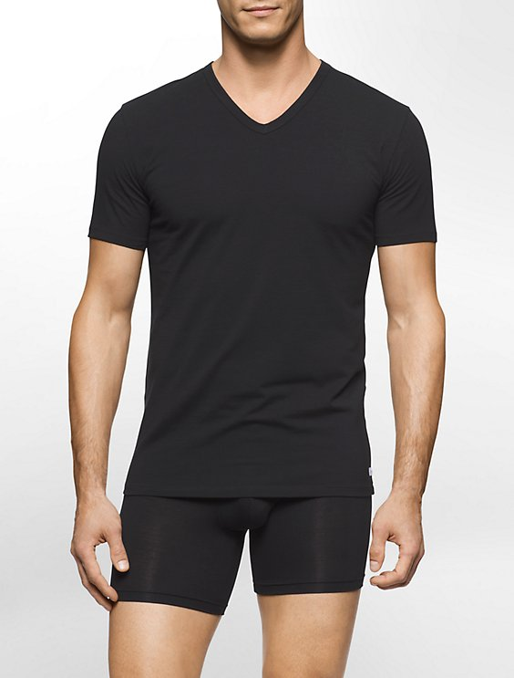 Men's Cotton V-Neck T-Shirts 2 Pack | Calvin Klein