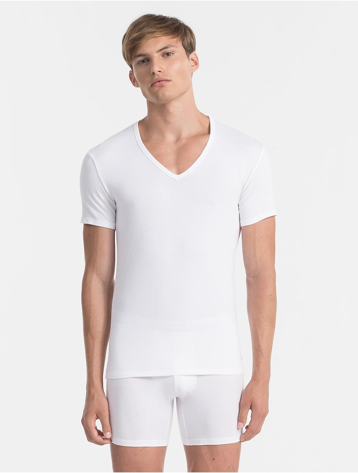 cotton stretch 2-pack v-neck t-shirt   Calvin Klein 2a3a229e55