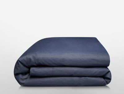 Denim Wash Duvet Cover Set In Deep Wash