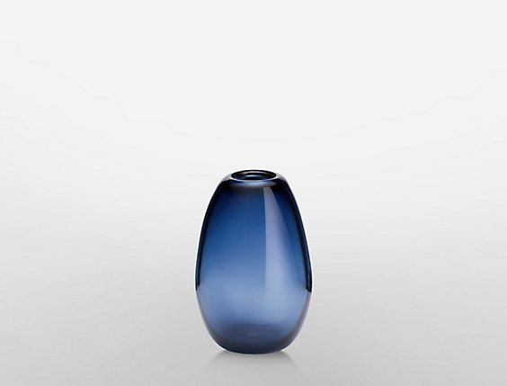 Drop Tall Bud Vase In Sapphire Calvin Klein
