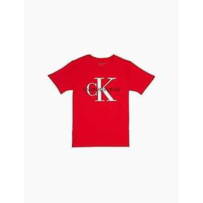 Boys Monogram Logo Crewneck T-Shirt