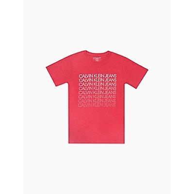 Boys CKJ Faded Logo Crewneck T-Shirt