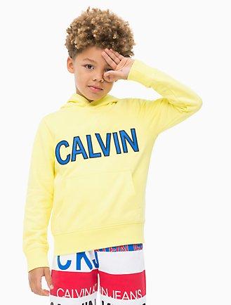 ebd54f8f52ad Boys Calvin Logo Hoodie