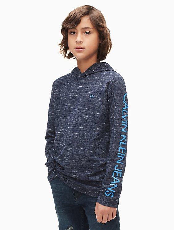 584cf406c95e boys colorblock ck logo hoodie   Calvin Klein