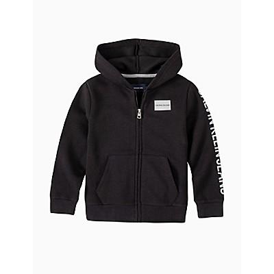 boys ck logo full zip hoodie