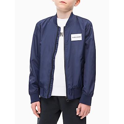 Boys Nylon Logo Block Bomber Jacket