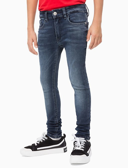 factory price top-rated cheap enjoy big discount Boys Skinny Fit Dark Blue Jeans | Calvin Klein