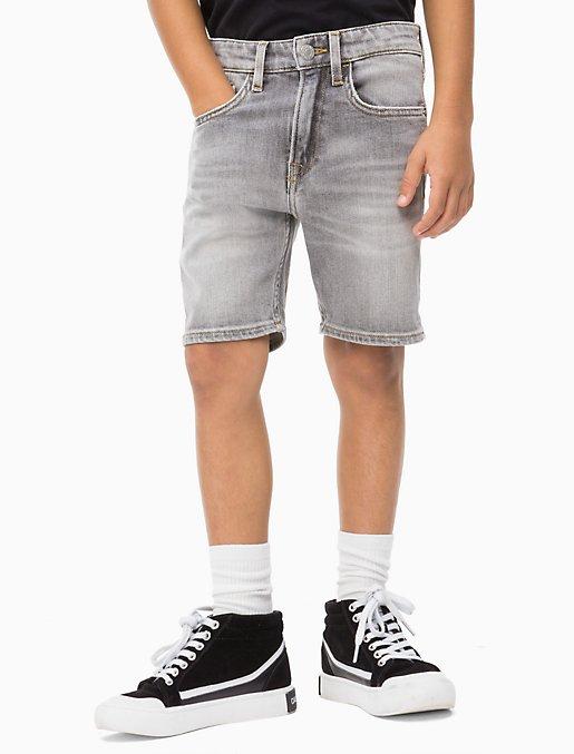 Boys Tapered Mid Grey Denim Shorts | Calvin Klein
