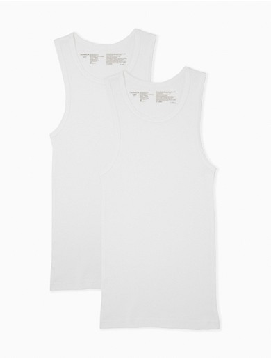 A solid base layer, this tank top comes in a 2-pack and is crafted with soft cotton for excellent breathability. Finished with a scoopneck and a sleeveless cut.