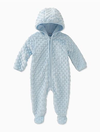 a704c90b7 baby boys sherpa logo dot onesie