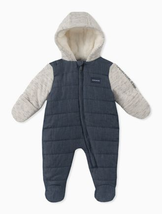 Baby Boy Colorblock Quilted Onesie