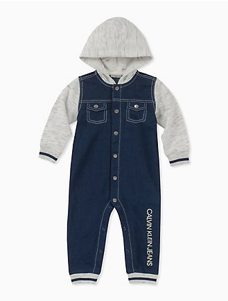 baf99917a47 baby boy colorblock hooded coveralls
