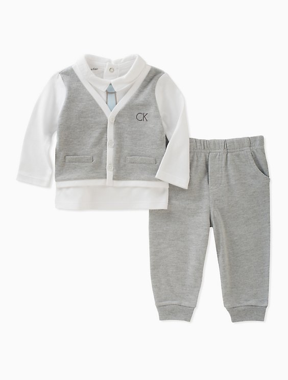 1f9e2ed14 baby boys logo cardigan pants set