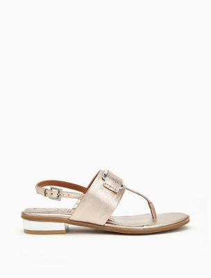 Freida Metallic Leather Sandal