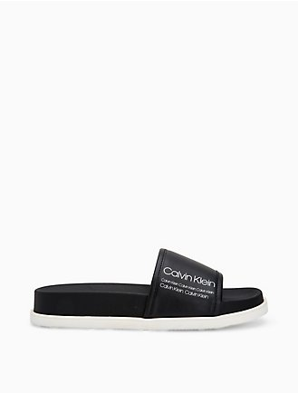 61de936a6b6 Maree Leather Logo Slide Sandal