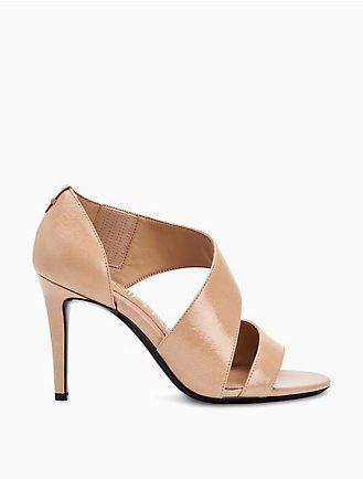e69e70ead7f niva crackle faux leather heel