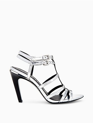 36811454ad3a Gili Metallic Box Leather Sandal
