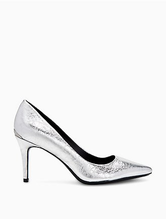 1f0f7014f820 gayle metallic leather pump