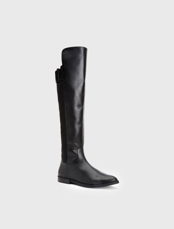 Calvin Klein Leather Knee-High Boots