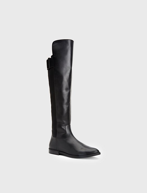 cheap sale classic outlet find great Calvin Klein Leather Knee-High Boots best deals sale official b9NG3dWm3