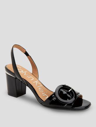Calvin Klein JILEEAN - Heeled mules - black/pewter/plat white