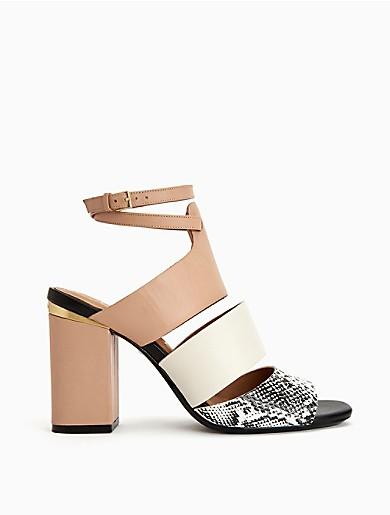 b29c5e9f174 caran colorblock heel sandal