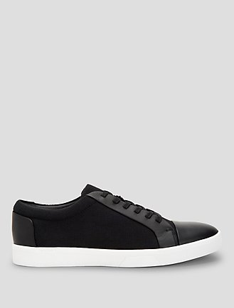 calvin klein shoes black with white sole men s sneakers
