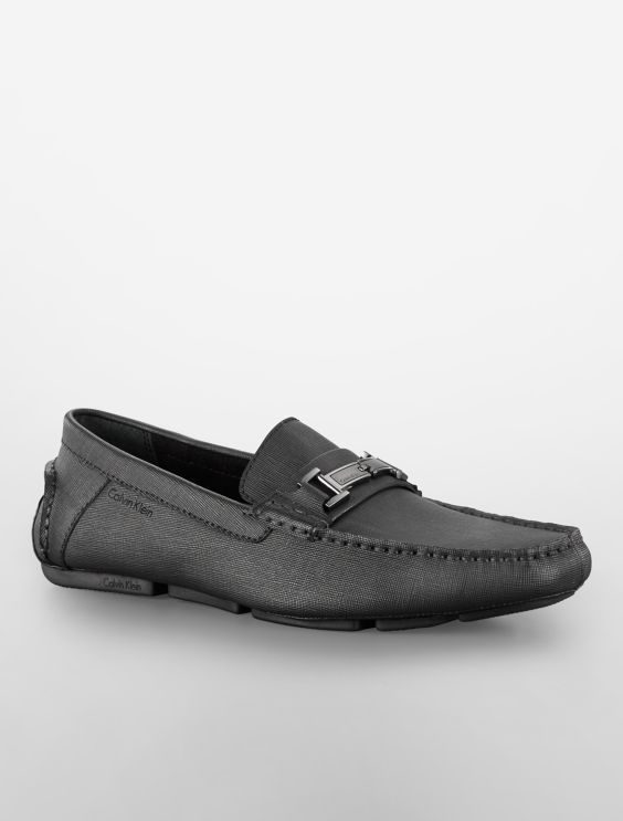 Calvin Klein Magnus (Black Weave Emboss) Mens Shoes