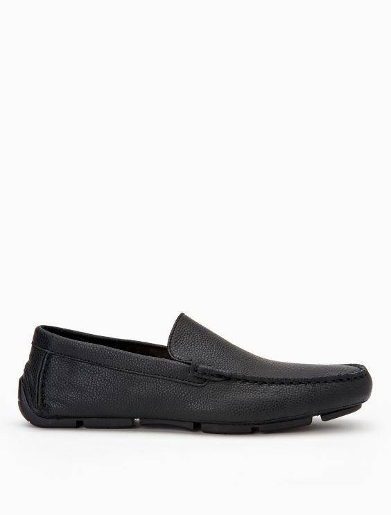 Kaleb Leather Driver Loafer by Calvin Klein